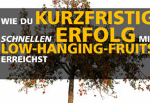 Low-Hanging-Fruits - kurzfristig schnellen Erfolg