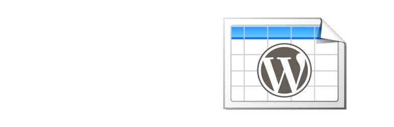TablePress - WordPress Tabellen Plugin